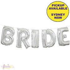 BRIDAL SHOWER HENS PARTY SUPPLIES 5pc FOIL BRIDE BALLOON BANNER KIT DECORATIONS