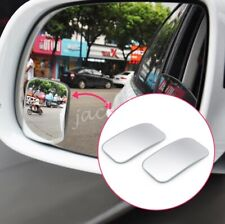 2x Rimless Rectangle Rotatable Car Auto Rearview Blind Spot Glass Mirror