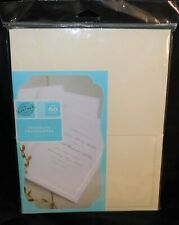 Gartner Studios Wedding Program Papers Half-Fold With Pearl White Border 50-Ct