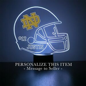 Notre Dame Fighting Irish,Personalized FREE,College Football LED Sports Fan Lamp