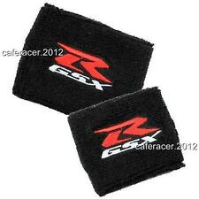 SUZUKI GSXR RESERVOIR SOCKS BRAKE/CLUTCH FLUID TANK CUP COVER 600 750 1000 BLACK