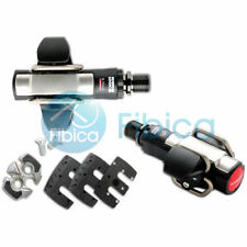 New LOOK S-TRACK Carbon TI Titanium MTB Mountain Pedals Black Silver with Cleats