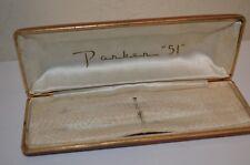 Parker 51 Luxury Brown Hardshell EMPTY CASE ONLY No Pen Pencil RARE VTG 40s 50s