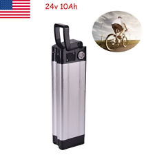 X-GO 24V 10Ah 200W Fish Li-ion Lithium Battery for Electric Bicycles E-Bike US