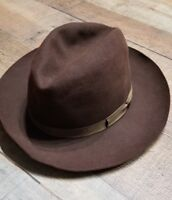 Royal Stetson Playboy Hat Fedora Brown Ribbon 7 soft Felt 1940 Vintage