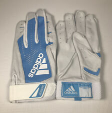 Men's Adidas Adizero White Blue Fathers Day Batting Gloves Size Large