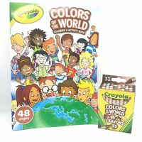 Crayola Colors Of The World 48 Pages Coloring And Activity Book & 32 Crayons