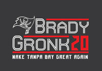 Tom Brady Rob Gronkowski 20 Campaign shirt Tampa Bay Buccaneers 2020 TB12 Gronk