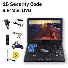 "Brand New 9.8"" Portable DVD Player DivX,Swivel, USB,SD,300 GAMES"
