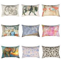 GN- Fashion Pattern Throw Pillow Case Sofa Bed Home Car Decor Cushion Cover Sala