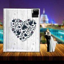 "Silver Heart Design Photo Album Holds 200 4 x 6"" Photographs Best Wedding Gift"