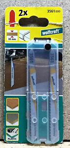 Wolfcraft 2 Stichsägeblätter BIM  T- Schaft  Kunststoff  3561000