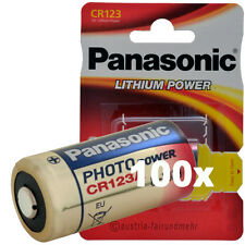 100x CR123A CR123 Foto-Batterie Lithium von PANASONIC