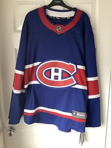 Brand New With Tags Fanatics NHL Montreal Canadiens Jersey Blue Medium