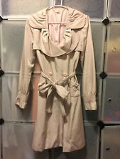 Pink Spring Autumn Coat With Bows Size 10