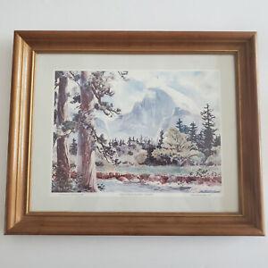 1996 Jane Gyer watercolor HALF DOME& MEADOW, YOSEMITE PRINT FREE SHIPPING