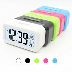 Battery Operated Digital Deck Alarm Clock LCD Display Backlight Calendar Classic