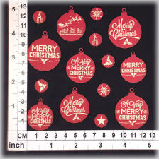 Chipboard Embellishments for Scrapbooking, Cards - Christmas Ornaments 141228rd