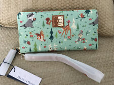 NWT DOONEY & BOURKE DISNEY BAMBI AND FRIENDS PRINT WRISTLET WALLET THUMPER OWL