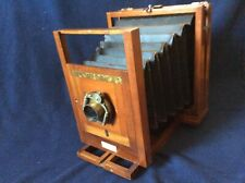 Rare Antique Wood Camera Made by G.Gennert Burlington 1893 w/ Unicum Lens