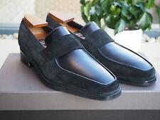 £ 1150 nouvelle maison Corthay Noir Cuir Daim Mocassins Chaussures UK9 US10 EU43 Arca