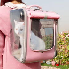 Pet Cat Carrier Backpack Breathable Cat Travel Outdoor Shoulder Bag For Small Do