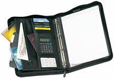 Cartella porta documenti 8 scomparti + porta carte credito raccoglitore 4 anelli