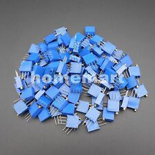 100PCS BOCHEN 3296 W 3296W-104 100K ohm Trim Pot Trimmer Potentiometer Resistor
