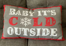 Baby It's Cold Outside Decorative Pillow - Christmas Decor