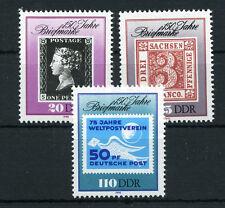 DDR 3329/31 ** 150 Jahre Briefmarke
