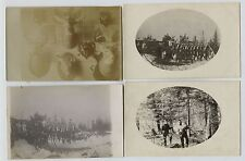 4 1910 era Deer Hunting Hunting Shack Real Photo Postcards RPPC WI MN ND SD