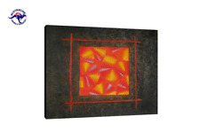 HAND PAINTED ABSTRACT OIL PAINTING SQUARE CONTEMPORARY WALL ART MODERN DECOR