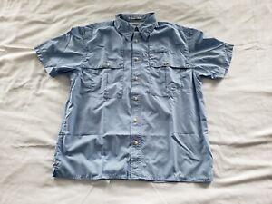 Orvis Trout Bum Size Large Plaid Short Sleeve Casual Shirt Mens Fishing Outdoors