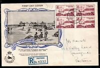 South Africa 1949 Natal Settlers illustrated block on FDC WS18269
