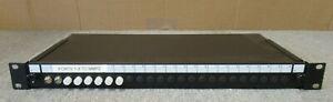 "8 Port 19"" 1U Rack Mount Fibre Optic Patch Panel ST Multimode Adapters"