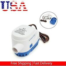 12V 1100GPH Marine Boat Automatic Bilge Pump RV Auto Submersible Water Pump US