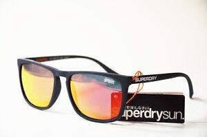 Superdry Sds Shockwave 189 Unisex Kunststoff dunkelblau Sonnenbrille Neu