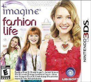 BRAND NEW Imagine: Fashion Life (Nintendo 3DS, 2012) GAME FACTORY SEALED DESIGN