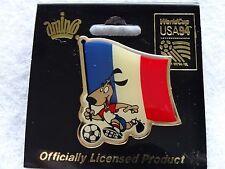 Fifa World Cup USA 1994    FRANCE     *Football Soccer* Official Logo Pin Back