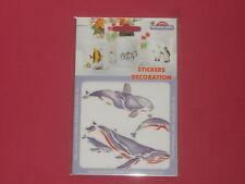 sticker dauphin,baleine, résiste à la chaleur et l'eau pour faïence,plastique