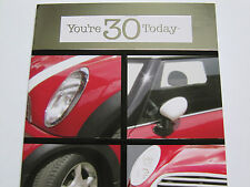 Fantastica COLORATA racing mini auto sei 30 oggi trentesimo compleanno greeting card
