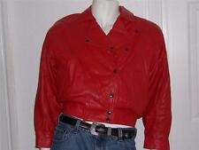 TANNERY WEST RED LEATHER JACKET W/REMOVABLE THERMOLITE LINER MEDIUM MOTORCYCLE