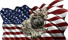 USMC Marines Devil Dog American Flag cornhole board game vinyl graphic decals