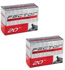 "2x Factor BMX Tubes 20"" x 1.75/2.125 Car Valve - Schrader Inner Bike Bicycle"