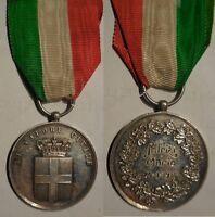 medaglia al valore civile in argento incisa