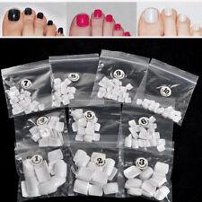 500 Acrylic False Fake Artificial Toe Nails Tips Natural Full Cover - UK Seller