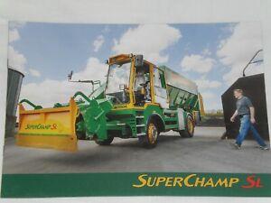 MARMIX SUPERCHAMP SL selbstfahrender Futtermischwagen Prospekt ( Auktion 97 )
