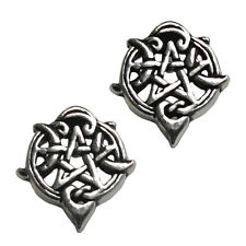 Sterling Silver Heart Pentacle Pentagram Earring Studs Dryad Design Wicca Pagan