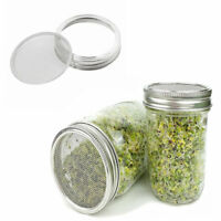 5pcs Stainless Steel Organic Seeds Sprouting Jar Lid for Wide Mouth Mason Jars