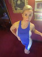 # BNWT WOMENS BLUE FOOR TRIATHLON RACE SKIN SWIM TRI SUIT SIZE UK 8 ~ RRP £60